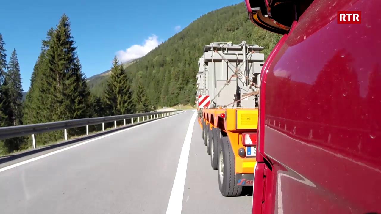 Transport special per las Ouvras Electricas d'Engiadina