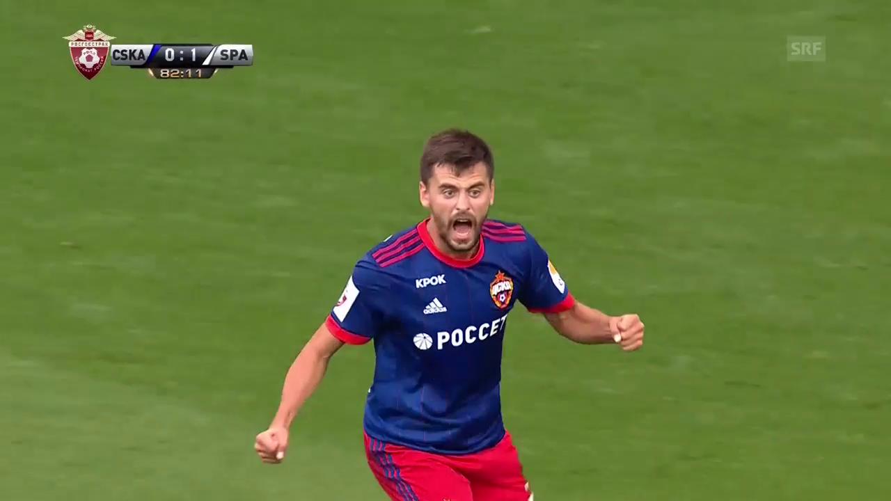 ZSKA-Doppelschlag gegen Spartak