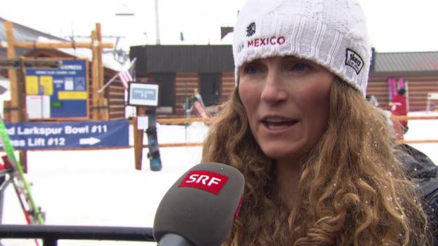 Video «Ski alpin: WM in Vail/Beaver Creek, Sarah Schleper über ihre Fernziele» abspielen