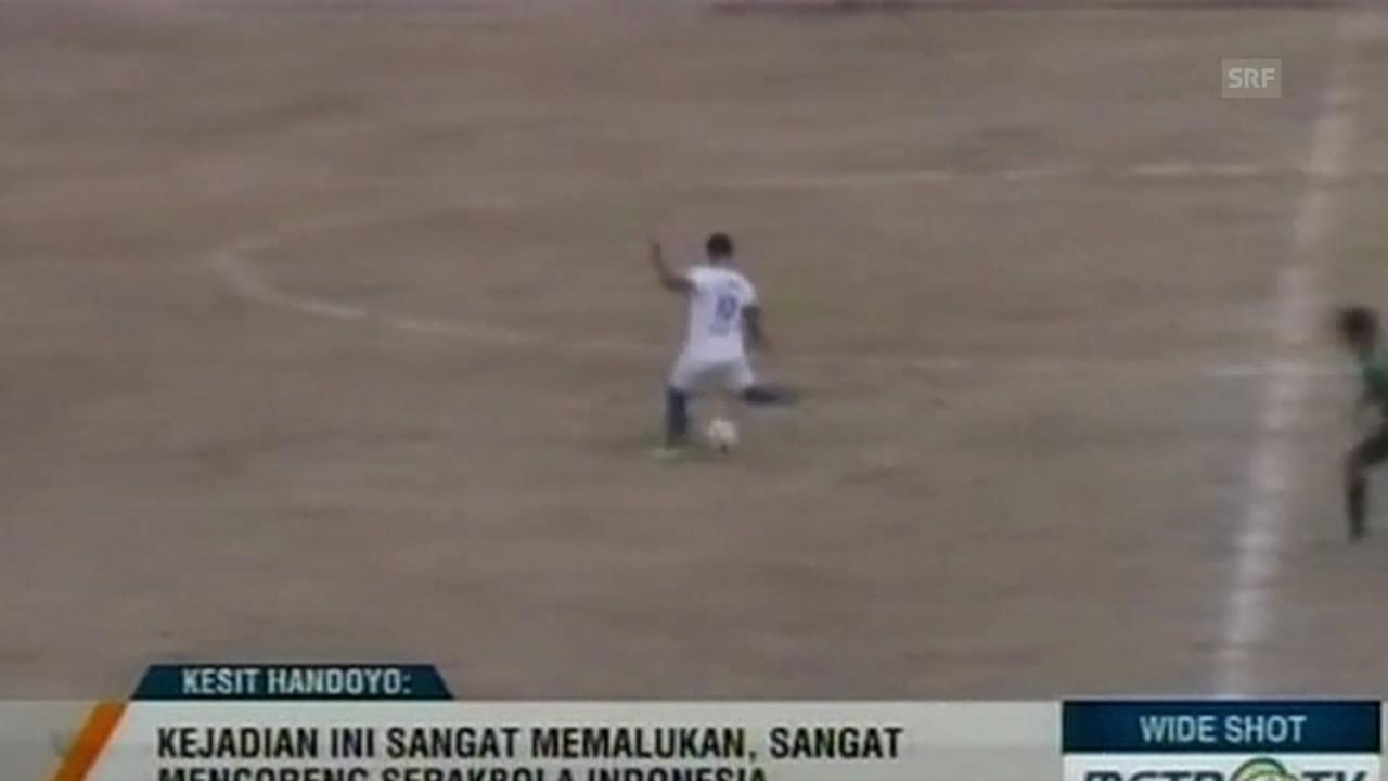 Fussball: Indonesien, Eigentore