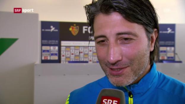 Video «Fussball: Basel am Tag nach dem Sieg gegen Zenit» abspielen