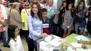 Video «Hohe Wahlbeteiligung in Katalonien» abspielen