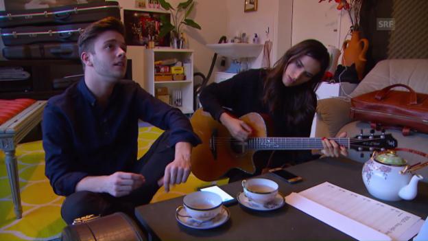 Video «Lea Lu und Luca Hänni» abspielen