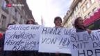 Video «Kurden in der Schweiz protestieren» abspielen