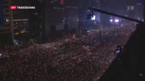 Video «Erneute Massenproteste wegen Korruptionsskandals» abspielen