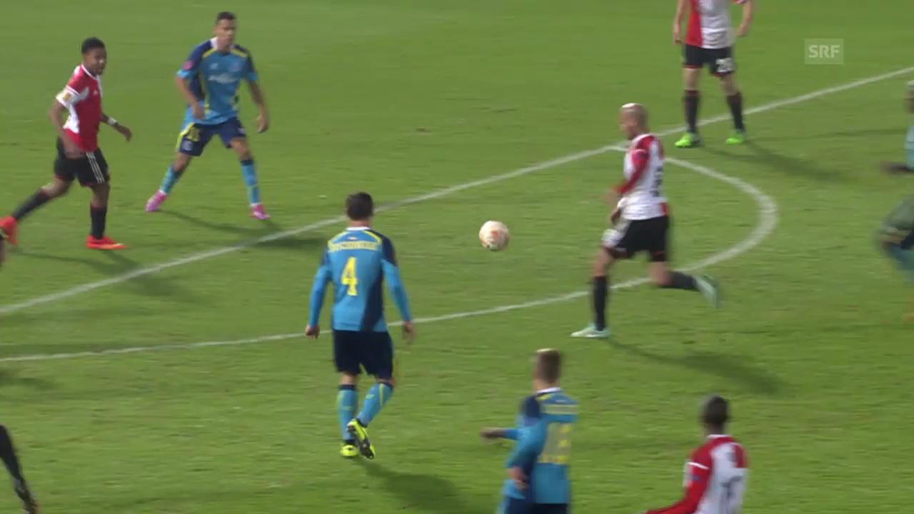 Fussball: Europa League, Tor des Abends durch Feyenoords Karim El Ahmadi
