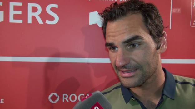 Video «Federer: «Jetzt bin ich etwas müde»» abspielen