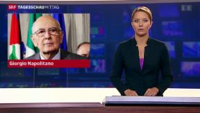 Video «Drohende Neuwahlen in Italien » abspielen