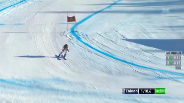 Video «Ski: Super-G, Lake Louise, Fabienne Suter» abspielen