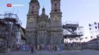 Video «Spanischer Kriegsheld vor St. Galler Kathedrale» abspielen