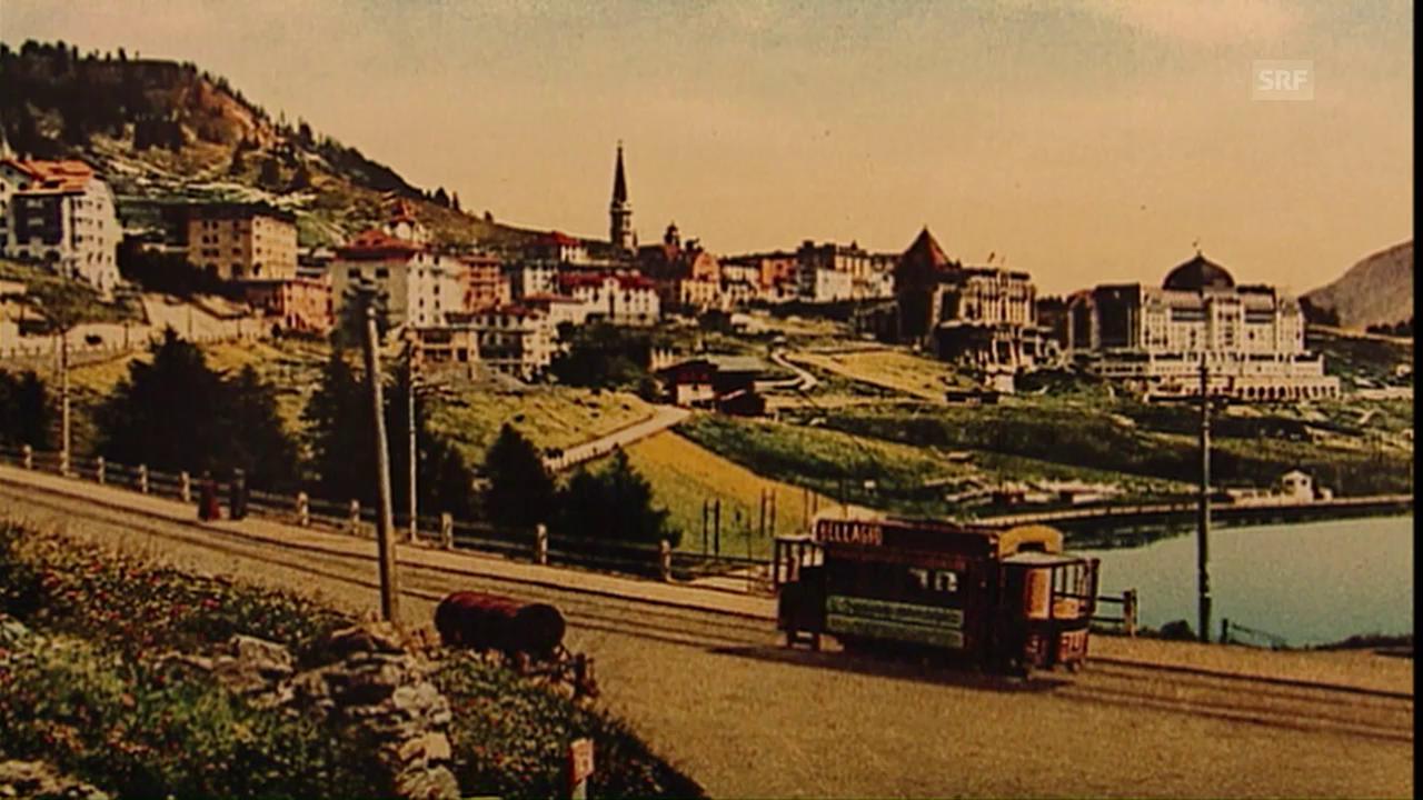 So sah das Tram in St. Moritz aus