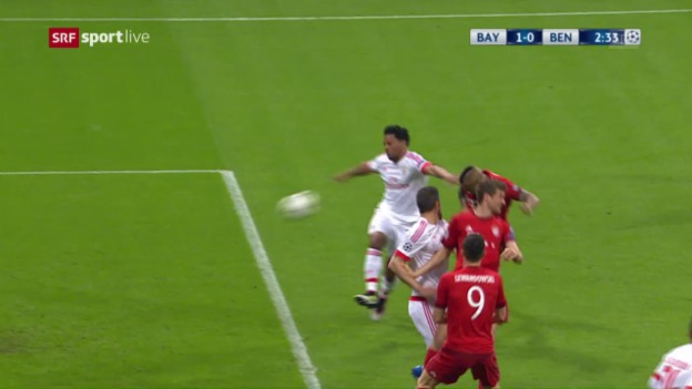 Video «Bayern schlagen Benfica mit 1:0» abspielen