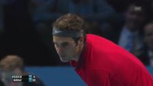 Video «Tennis: Federer-Murray, längster Ballwechsel» abspielen