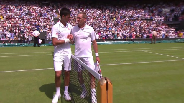 Video «Tennis: Wimbledon 2015, Djokovic – Nieminen» abspielen