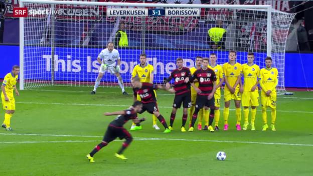 Video «Fussball: CL, Leverkusen - BATE Borissow» abspielen