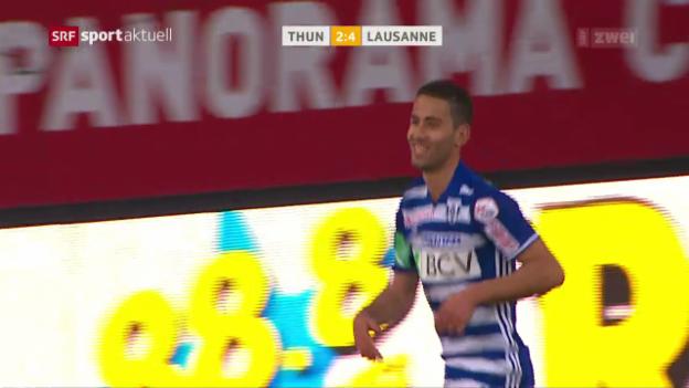 Video «Thun verliert Abstiegskampf gegen Lausanne» abspielen