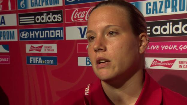 Video «Fussball: Frauen-WM, Schweiz - Japan, Interview Stenia Michel» abspielen