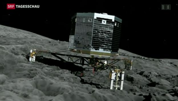 Video «Grosse Spannung bei Wissenschaftlern wegen der Sonde Rosetta» abspielen