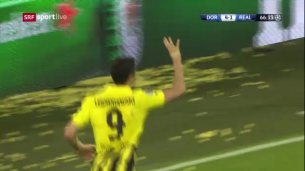 Video «Fussball: Highlights Dortmund - Real Madrid («sportlive»)» abspielen