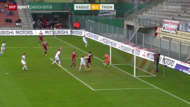 Video «Fussball: Vaduz - Thun» abspielen