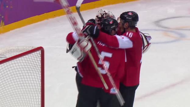 Video «Eishockey: Highlights Kanada - Schweden (sotschi direkt, 23.2.2014)» abspielen