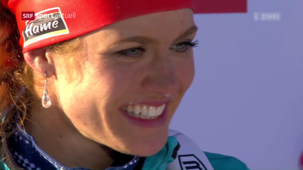 Koukalova gewinnt WM-Sprint in Hochfilzen