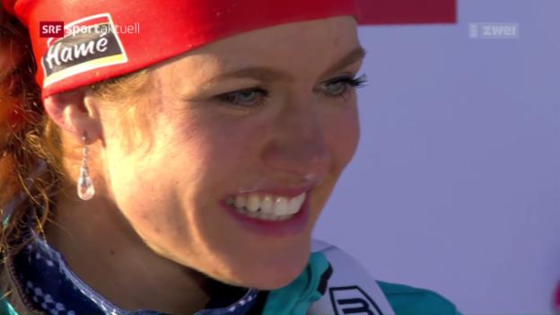 Video «Koukalova gewinnt WM-Sprint in Hochfilzen» abspielen