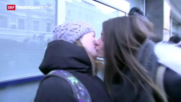 Video «Repressionen für Homosexuelle in Russland» abspielen
