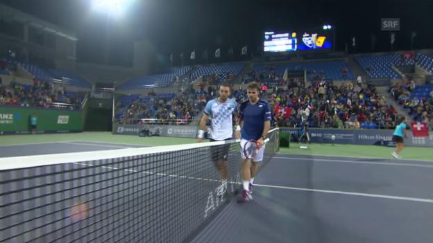Video «Tennis: ATP Schanghai, Wawrinka - Troicki» abspielen
