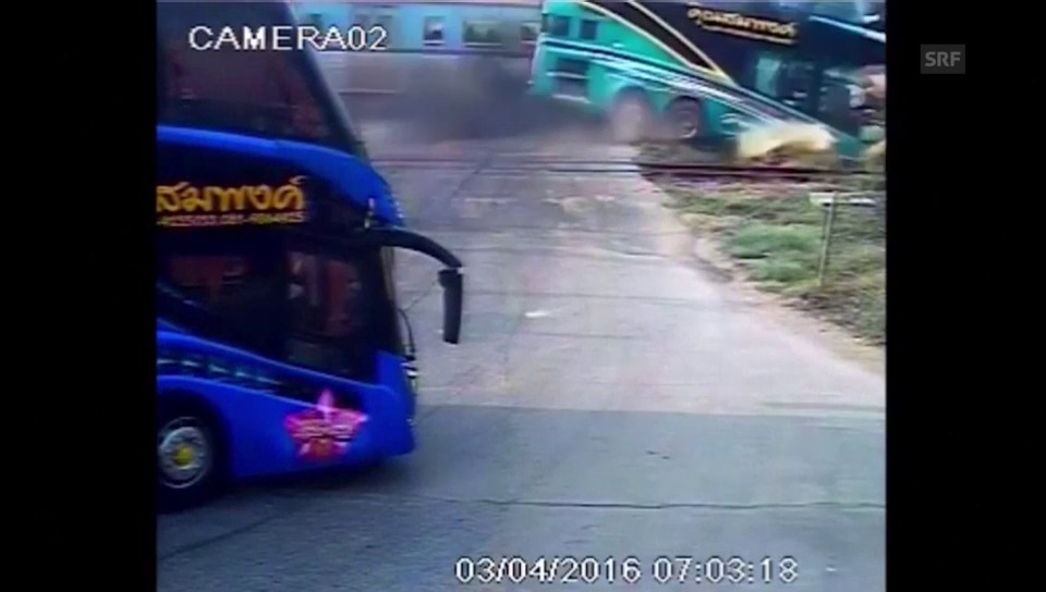 Überwachungskamera filmt Zusammenprall