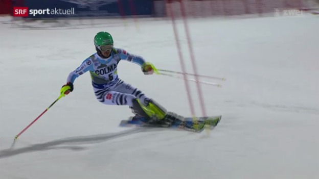Video «Ski alpin: Weltcup in Madonna di Campiglio, Slalom Männer» abspielen