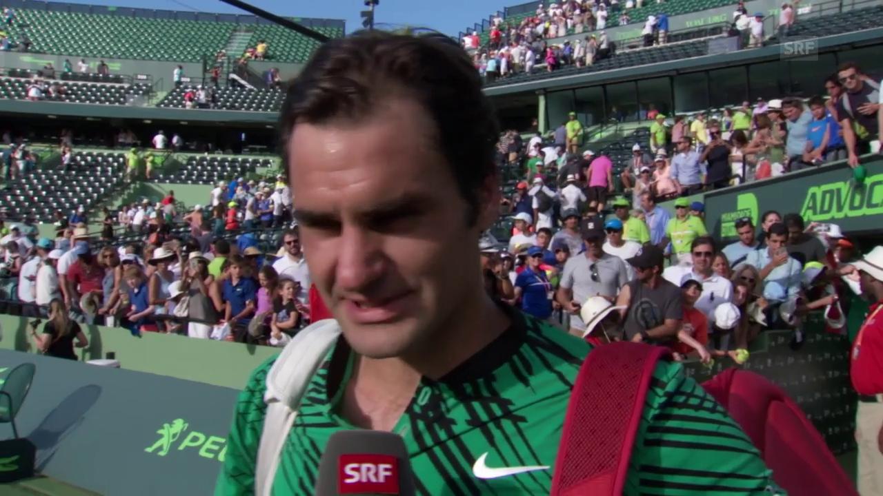 Roger Federer: «Es war Riesenglück im Spiel»