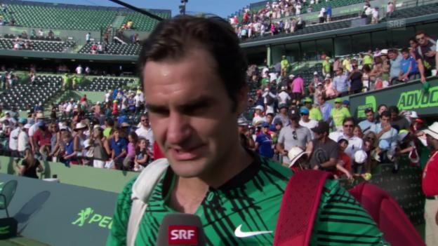 Video «Roger Federer: «Es war Riesenglück im Spiel»» abspielen