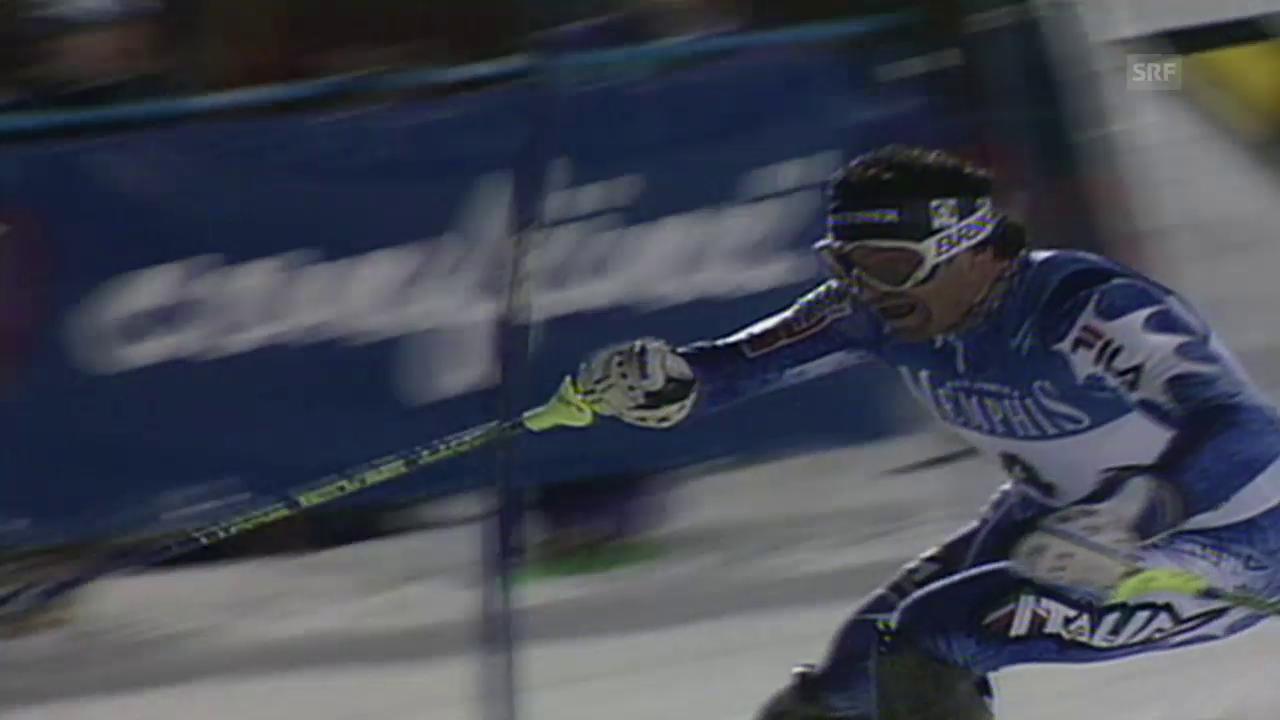 1998: Zweiter Sieg in Serie für Alberto Tomba