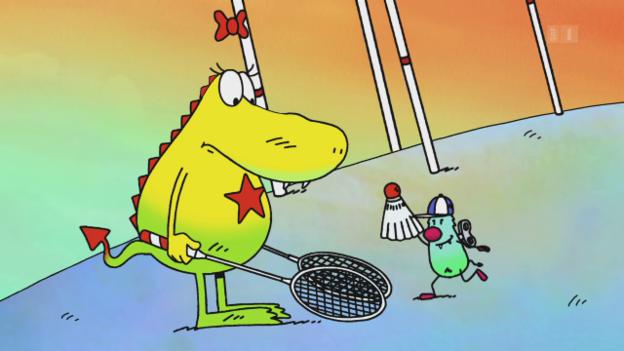 Video «Ted Sieger's Molly Monster – Fädere-Ball» abspielen