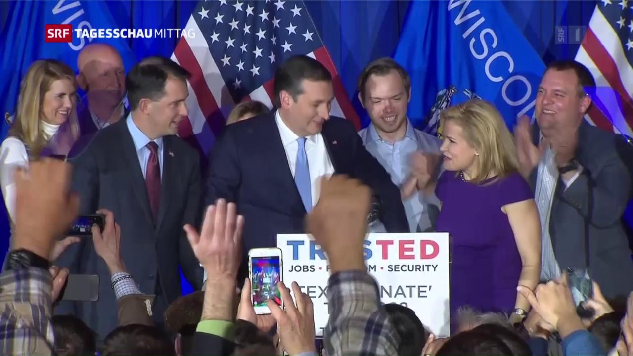 Cruz und Sanders gewinnen in Wisconsin
