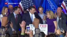 Video «Cruz und Sanders gewinnen in Wisconsin» abspielen