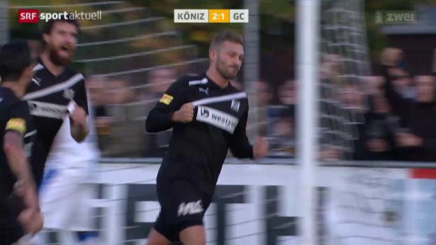 Video «Fussball: Cup, Köniz - GC» abspielen