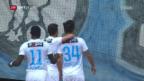 Video «Rodriguez schiesst FCZ ins späte Glück» abspielen