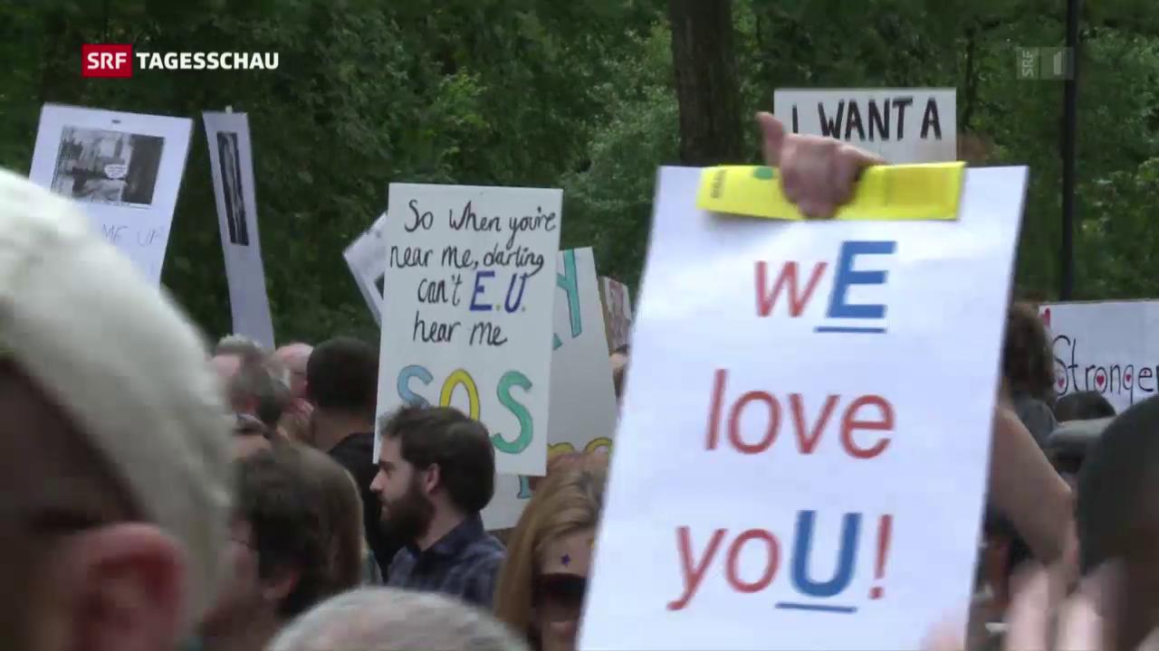 Tausende demonstrieren gegen den Brexit
