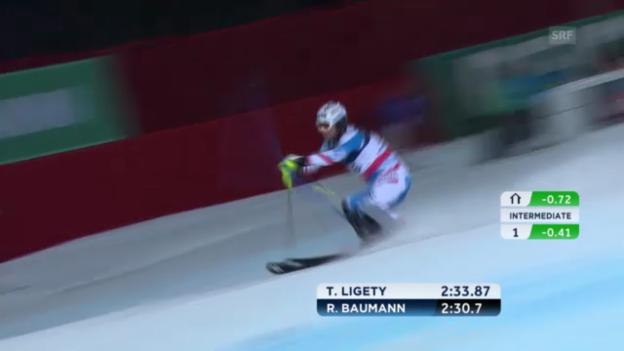 Video «Super-Kombi: Slalom Romed Baumann» abspielen