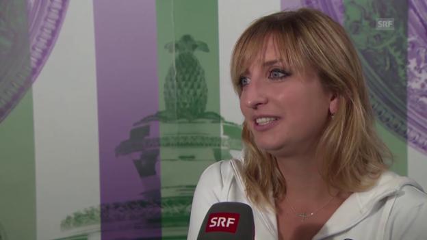 Video «Tennis: Wimbledon, Interview mit Timea Bacsinszky» abspielen