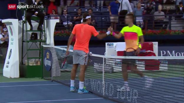 Video «Tennis: ATP Dubai, Federer - Coric» abspielen