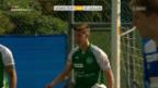 Video «St. Gallen schlägt Ueberstorf klar mit 6:0» abspielen