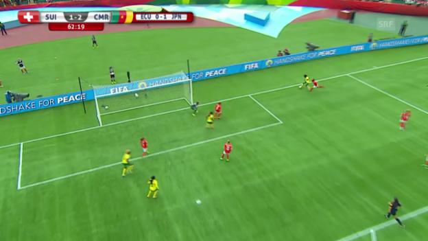 Video «Fussball: Frauen WM in Kanada, 3. Gruppenspiel, die Tore bei Schweiz - Kamerun» abspielen