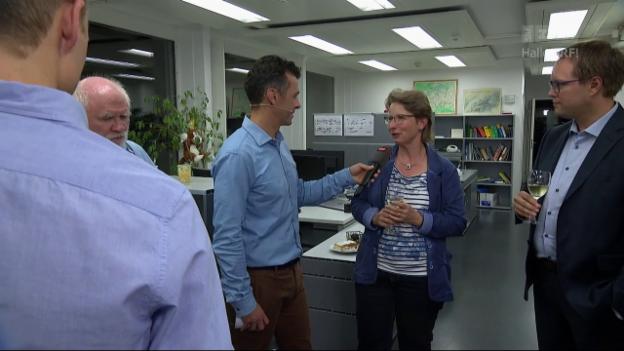 Video «Geschafft! Mauro Hermann nach geglückter «SRF Meteo» Moderation» abspielen