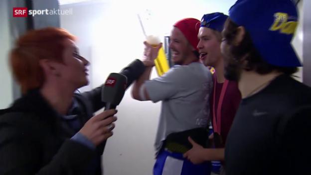 Video «Eishockey: Playoff-Final, Schaltung ins Hallenstadion» abspielen