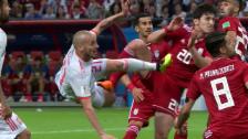 Link öffnet eine Lightbox. Video Spanien zittert sich zum Sieg gegen den Iran abspielen