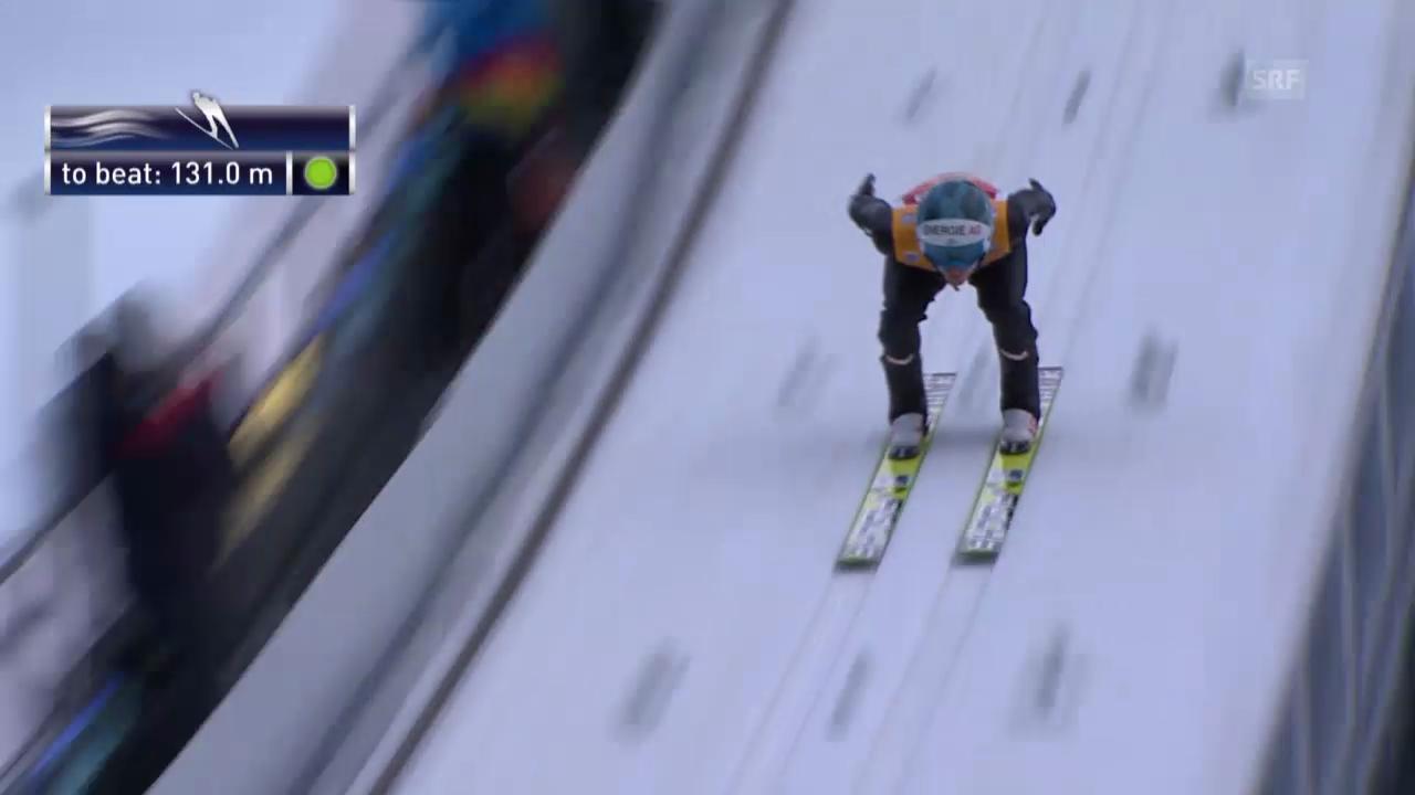 Skispringen: 2. Sprung Michael Hayboeck