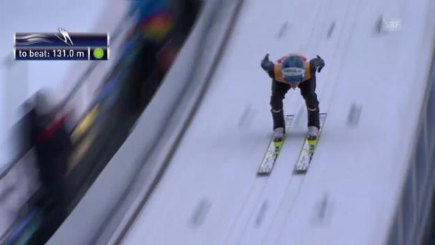 Video «Skispringen: 2. Sprung Michael Hayboeck» abspielen
